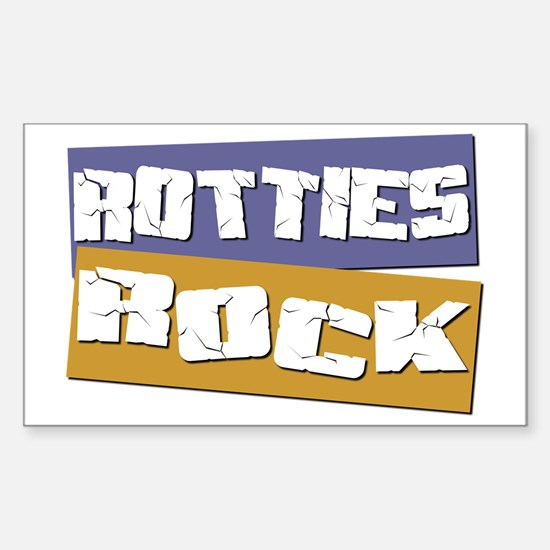 Rotties ROCK Rectangle Decal