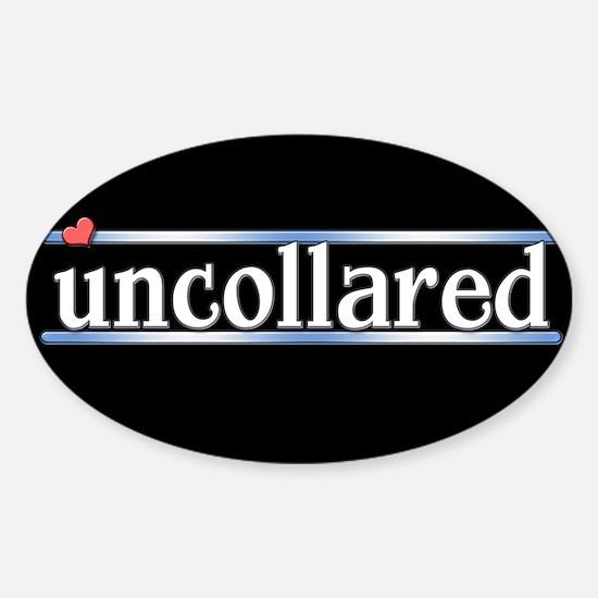 Uncollared Sticker (Oval)