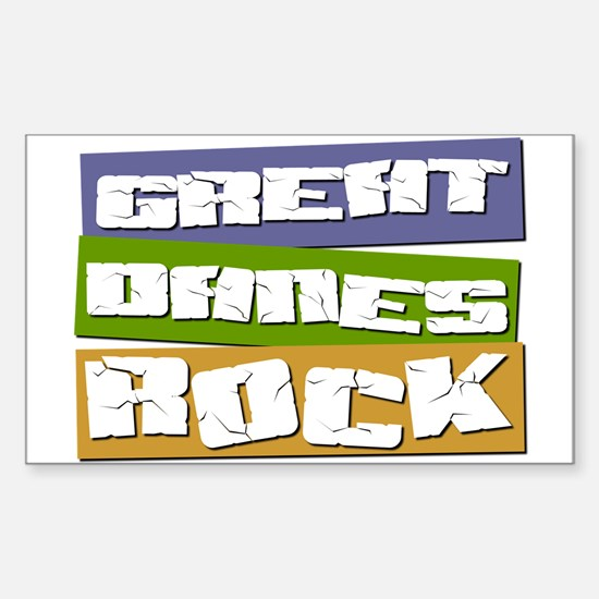 Great Danes ROCK Rectangle Decal