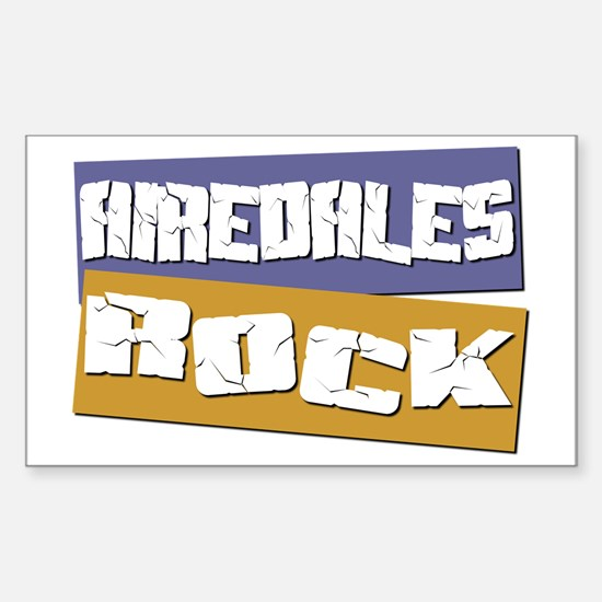 Airedales ROCK Rectangle Decal