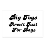BIG TOYS ARN'T JUST FOR BOYS Postcards (Package of