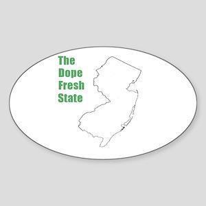 Dope Fresh! Oval Sticker
