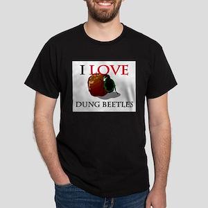 I Love Dung Beetles Dark T-Shirt