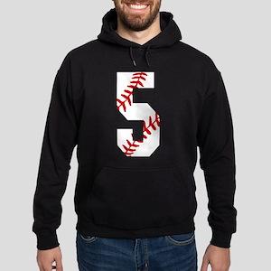 Baseball #5 Fifth Birthday Baseball Hoodie (dark)