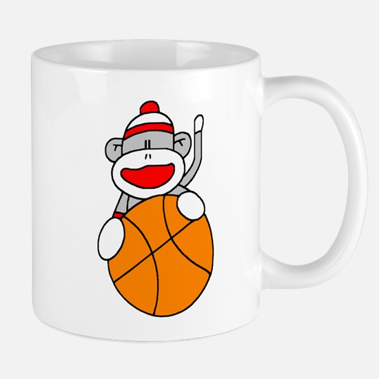 Sock Monkey with Basketball Mug