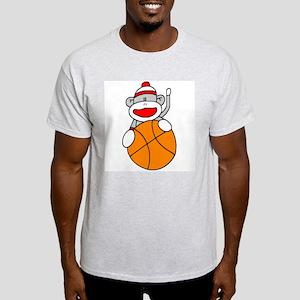 Sock Monkey with Basketball Light T-Shirt