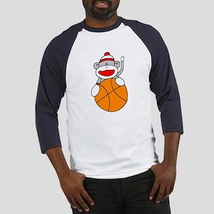 Sock Monkey with Basketball Baseball Jersey