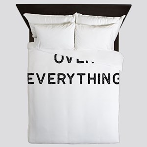 Book Shirt Over Everything Dark Readin Queen Duvet