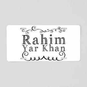 Rahim Yar Khan Aluminum License Plate