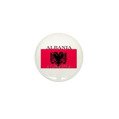 Albania Albanian Flag Mini Button (10 pack)