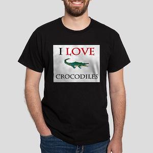 I Love Crocodiles Dark T-Shirt