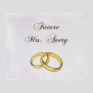 FUTURE MRS. AVERY Throw Blanket