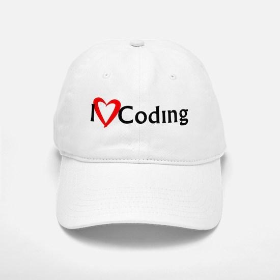 I Heart Coding Baseball Baseball Cap