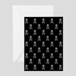 Many Skulls Greeting Card