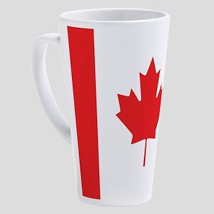 Flag Of Canada 17 oz Latte Mug