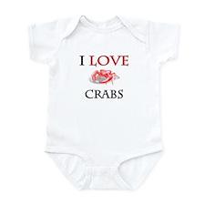 I Love Crabs Infant Bodysuit