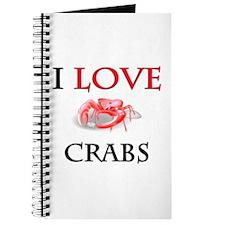 I Love Crabs Journal