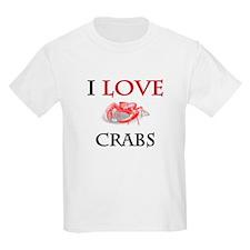 I Love Crabs Kids Light T-Shirt