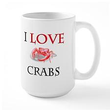 I Love Crabs Large Mug