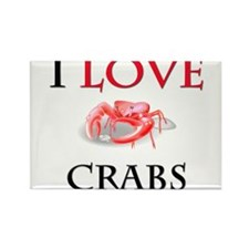 I Love Crabs Rectangle Magnet