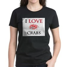 I Love Crabs Women's Dark T-Shirt