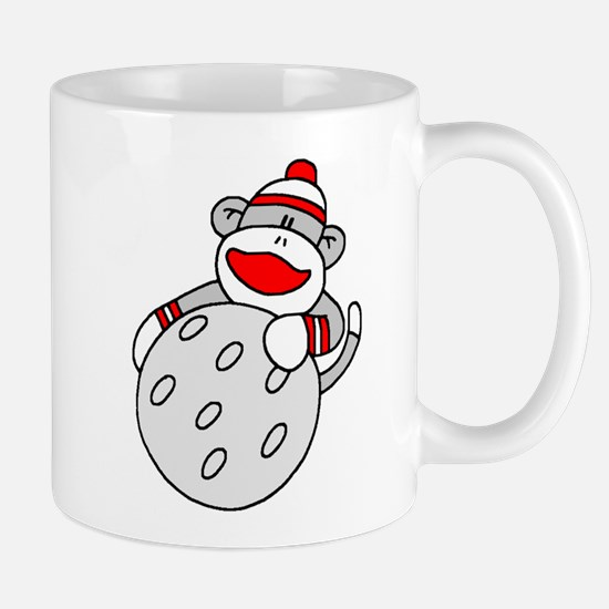 Sock Monkey with Golf Ball Mug