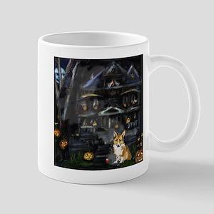 Halloween House Corgi Mug