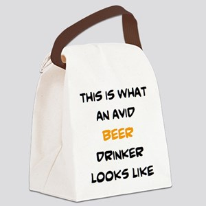 avid beer drinker Canvas Lunch Bag