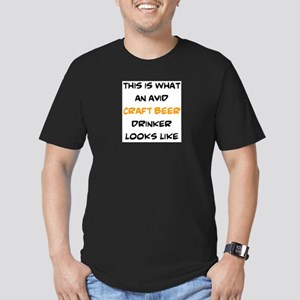 avid craft beer drinke Men's Fitted T-Shirt (dark)