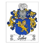 Salvo Family Crest Small Poster
