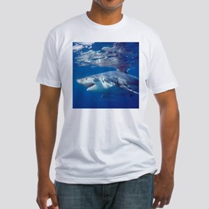Great white shark on attack Fitted T-Shirt