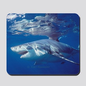 Great white shark on attack Mousepad