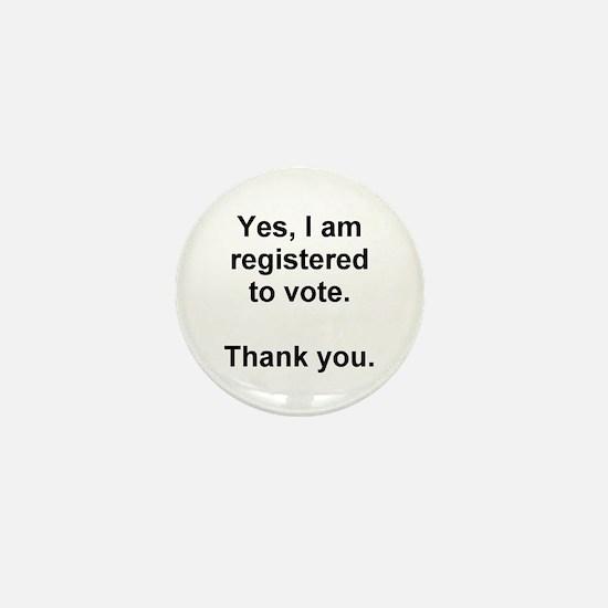 Register vote Mini Button