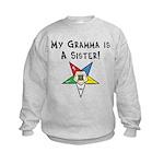 My Gramma is a Sister Kids Sweatshirt