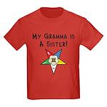 My Gramma is a Sister Kids Dark T-Shirt