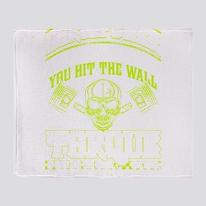 Drag Racing Skull Hit The Wall Humor Throw Blanket