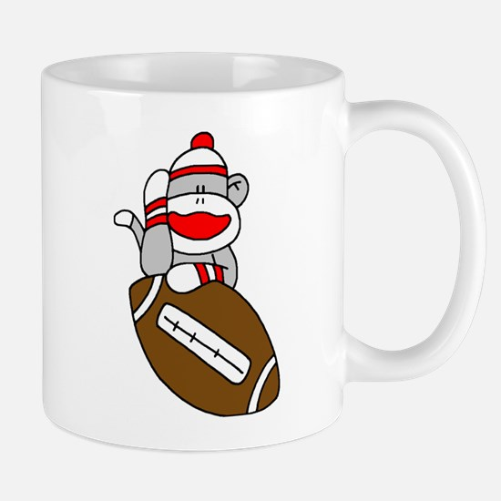 Sock Monkey and Football Mug