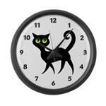 Cat With Green Eyes Large Wall Clock
