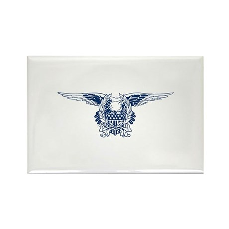 Blue American Eagle Rectangle Magnet (10 pack)