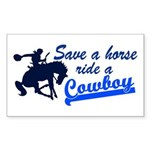 Cowboy Rectangle Sticker