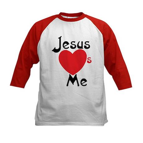 Jesus Loves Me Kids Baseball Jersey