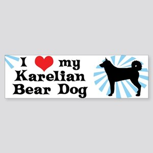 I Love my Karelian Bear Dog Bumper Sticker