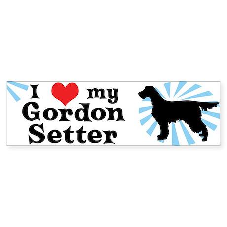 I Love my Gordon Setter Bumper Sticker