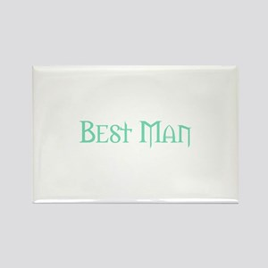 Green Morpheus Best Man Rectangle Magnet