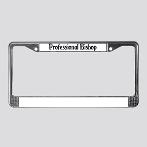 Professional Bishop License Plate Frame