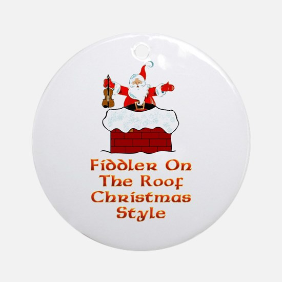 Christmas Fiddler on the Roof Ornament (Round)