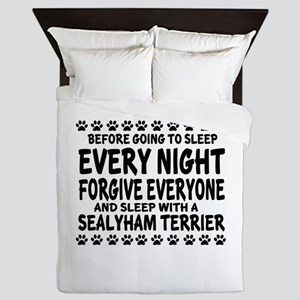 Sleep With Sealyham Terrier Dog Queen Duvet