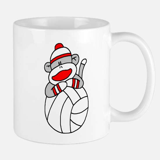 Sock Monkey Volleyball Mug