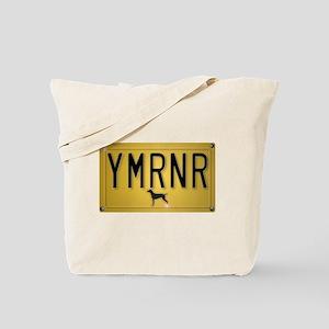 YMRNR License Plate Tote Bag