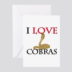 I Love Cobras Greeting Cards (Pk of 10)